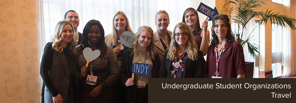 Undergraduate Student Organizations Travel