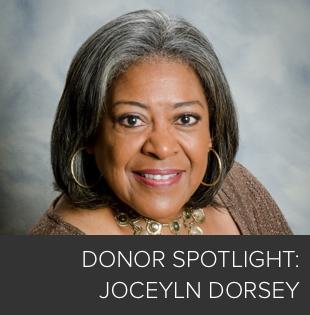 Donor Spotlight: Jocelyn Dorsey