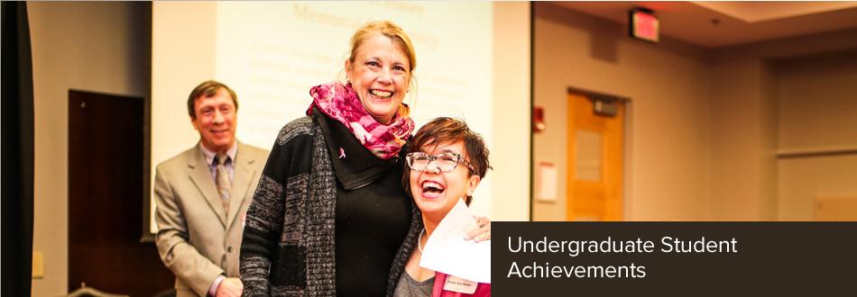 Sallee Ann wins an undergraduate achievement award.